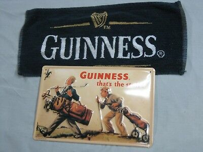 Guinness Sign and Bar Towel