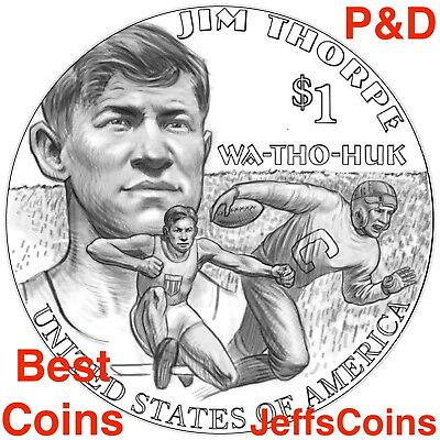 2018 P D SACAGAWEA NATIVE AMERICAN Jim Thorpe Wa Tho Huk Indian Dollar Set s PD