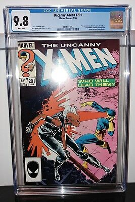 Uncanny X-Men #201 - CGC 9.8 White Pages - 1st Cable (Baby Nathan) Appearance