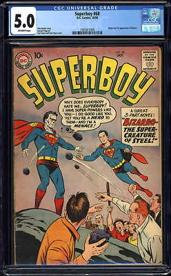 Superboy #68 CGC 5.0 DC 1958 1st Bizarro! Superman Villain! New Case! G12 154 cm
