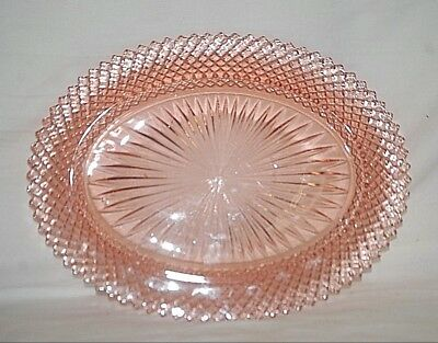 1930's Miss America Pink by Anchor Hocking Under Platter Pink Depression Glass