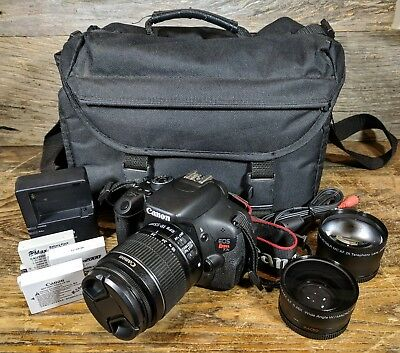 Canon EOS Rebel T3i / EOS 600D 18.0MP DSLR Camera - Black (Kit w/ 18-55mm lens)