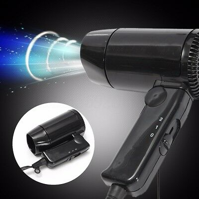 Foldable Car Hair Blow Dryer Heat Blower Hot & Cold Wind Travel Camping 12V 216W