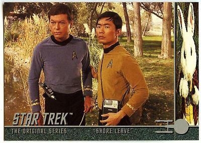 """Shore Leave"" #49 Star Trek Original Series 1 Sky Box Trade Card (C837)"