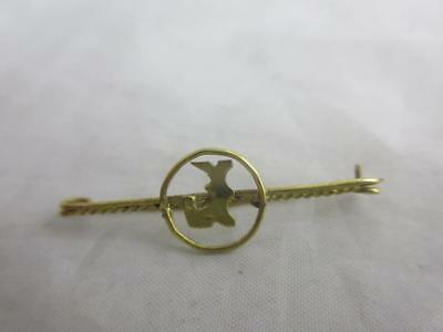 antique victorian c1890 9ct yellow Gold LETTER L BROOCH / PIN 3.5X1.2CM  j654