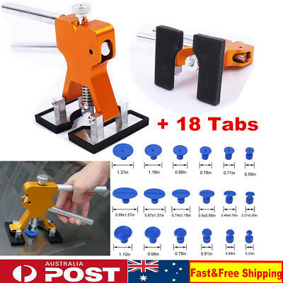 Car Dent Puller Paintless Hail Removal Tools Dent Remove Pulling 18 Tab Tool Kit