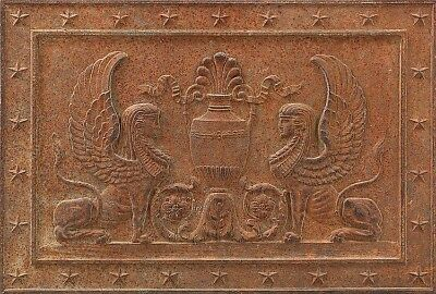Egyptian Revival cast iron architectural panel Lot 252