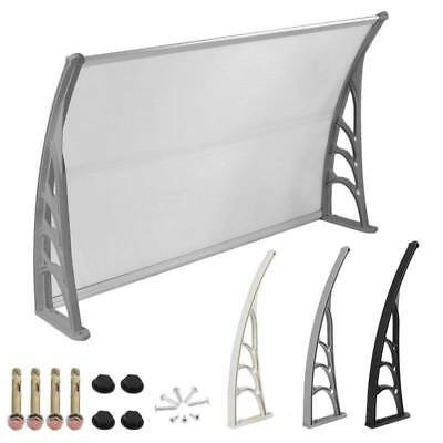 120x76cm Front Door Canopy Awning Shelter Porch Rain Cover Protector Patio Shade
