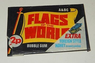 Ancienne Pochette FLAGS of the world A&BC - BUBBLE GUM : Drapeau LIBYE + Billet