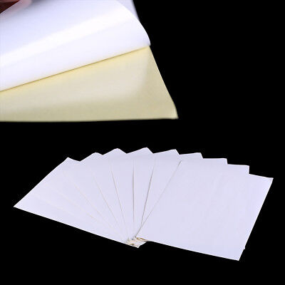 100sheets A4 White kraft paper stickers Self Adhesive Inkjet Laser printing GY