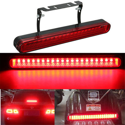 Car Motorcycle 12V 20 LED High Mount Brake Stop Tail Light Red Rear Lamp Bulb US