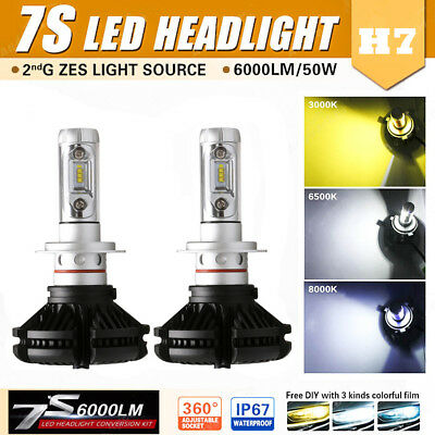 Car H7 LED Headlight Bulb ZES Conversion Kit 100W 12000lm Plug Play Waterroof