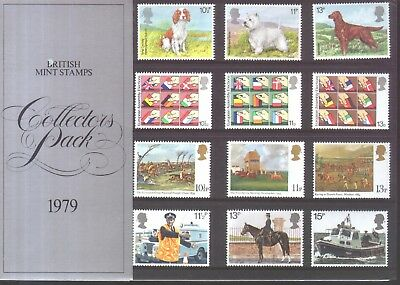 GB QE2 1979 collectors pack with all the year's stamps mint in original sleeve
