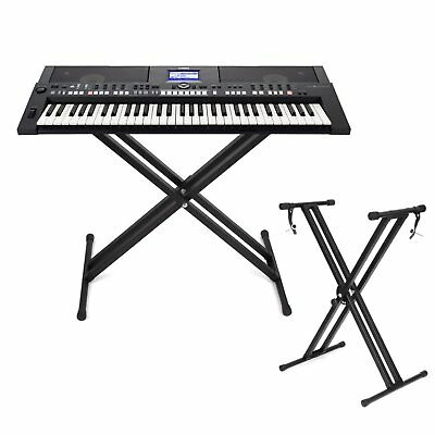 HEAVY DUTY Piano Keyboard Stand Double Braced X Frame Height ...