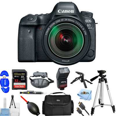 Canon EOS 6D Mark II DSLR Camera with 24-105mm f/3.5-5.6 Lens PRO KIT #1897C021