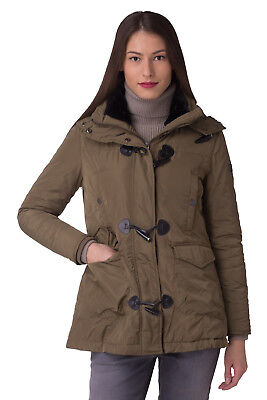 RRP €384 TRUSSARDI COLLECTION Size 42 / M Padded Parka Jacket With Faux Fur Trim