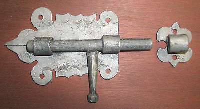 Colonial Pa. Dutch Barrel Bolt Latch,Hand Forged,Wrought Iron by Blacksmith