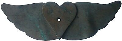 Antique fragment BRONZE Heart and wings MEDIEVAL Period MIDDLES Age EUROPE