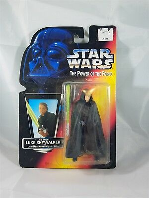 Star Wars POTF Jedi Knight Luke Skywalker w/Lightsaber & Removable Cloak