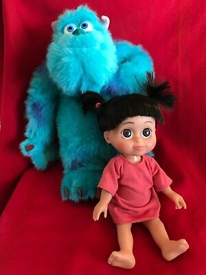 DISNEY  MONSTERS INC BABBLING BABY BOO  and TALKING DOLL PLUSH SULLY