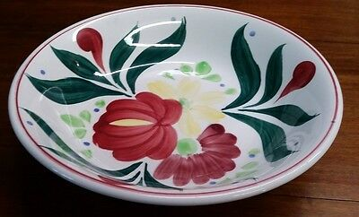 Ovenproof Stoneware Hand painted bowl 11''x 2.5'' Japan Beautiful Floral