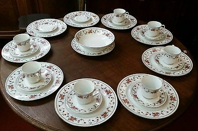 27 PC Set of Sheffield Anniversary China 10 dinner plates, 7 c/s, serving bowl