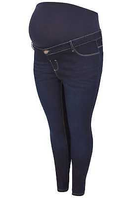 Plus Size Womens Bump It Up Maternity Dark Skinny Jeans With Comfort Panel