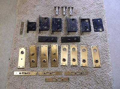 Vintage/Antique House Door Plates & Sargent Door Locks Selling As A Lot 23 Items