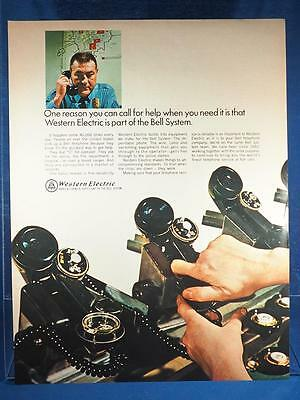 Vintage Magazine Ad Print Design Advertising Western Electric Bell Telephone