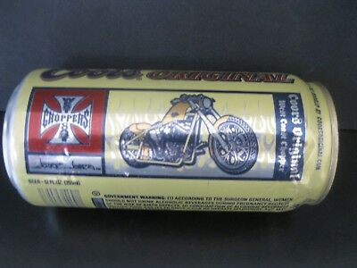 """Coors 12 Ounce   """"Jesse James West Coast Choppers Can""""  2004 Unopened"""