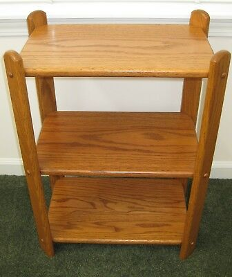 SOLID OAK RECTANGULAR END TABLE Furniture NEW