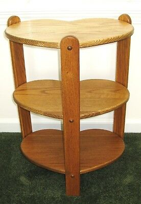 SOLID OAK HEART SHAPED CORNER END TABLE Furniture NEW