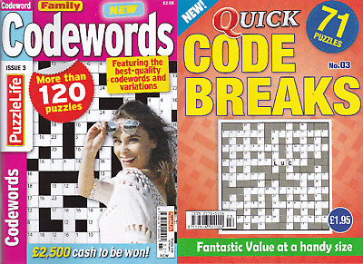 Code Word And Code Break Puzzle Book - 2 Book Set - 174 Puzzles - Set 157