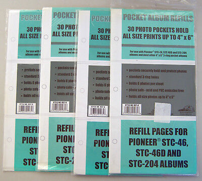 Pioneer Photo Albums Refill Pages  RST-6 For Up To 4X6 Prints