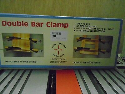 Double Bar Clamp Dyna-Pressure Four Way Clamp Woodworking Helper