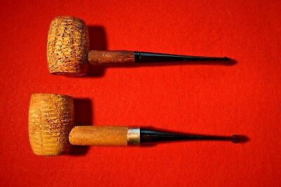Lot of 2 Vintage Buescher's World Famous Corn Cob Pipes Straight New Bits
