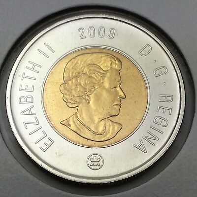 2009 Canada 2 Two Dollar Toonie Brilliant Uncirculated Coin Not In Case D377