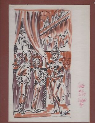 KELLY FREAS HEE CHEE # 10b PRELIMINARY DRAWING GATEWAY TRIP FREDERIK POHL