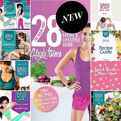 Kayla Itsines 28 Day Healthy Eating Guide + Bikini Body Guides + FREE EXTRAS!!