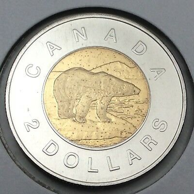 2009 Canada 2 Two Dollar Toonie Brilliant Uncirculated Coin Not In Case D382