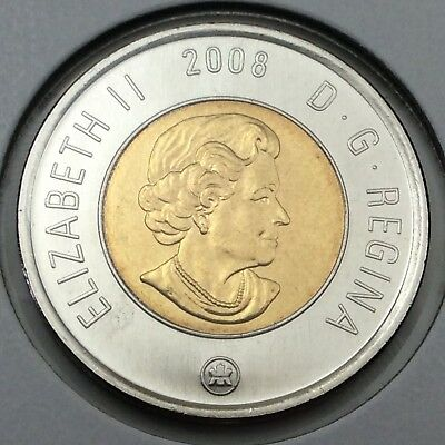 2008 Canada 2 Two Dollar Toonie Brilliant Uncirculated Coin Not In Case D383