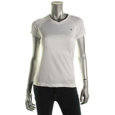Champion 4643 Womens White Basketball V-Neck Athletic Pullover Top XS BHFO