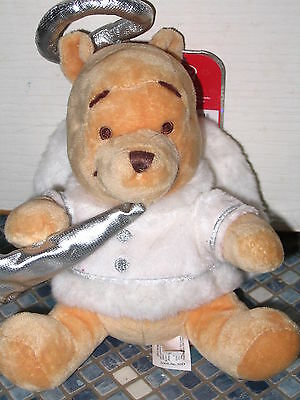 Disney Store Pooh Angel With Halo & Wings Beanbag Brand New Very Rare