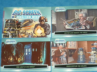Doctor Who: 'BIG SCREEN DOCTOR WHO' Base Set Of 100 Trading Cards Strictly Ink