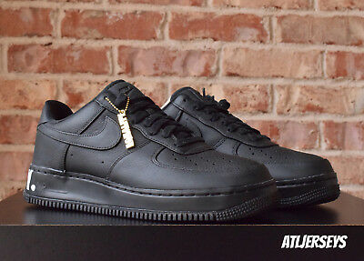 Nike Air Force 1 CMFT Equality QS BHM Black White Gold Size AQ2125-001