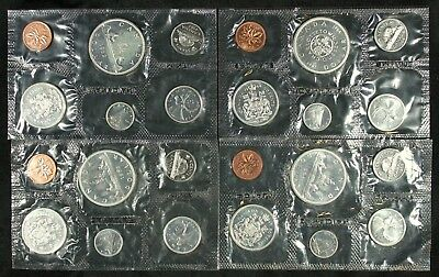 (4 pc) LOT OF CANADA SILVER PROOF LIKE SETS 1962 , 1963 , 1964 , & 1965