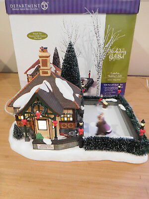 Dept 56 Dickens Village - London Skating Club Gift Set - Animated Skaters