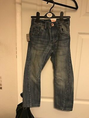 Lovely Boys Next Twisted Denim Jeans - Age 7 - NEW