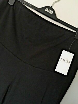 M&s Mum Maternity Black Sizes 8 Or 18 Cotton Added Stretch Leggings Free Post
