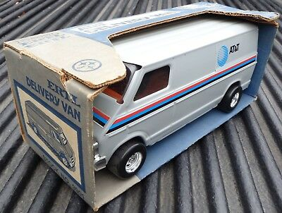 "1980""s 11"" At&T Delivery Van NJ Bell System Telephone Toy Truck Ertl #3901-10DO"